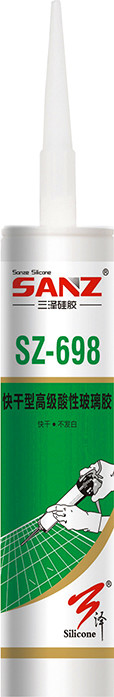 SZ698 Quick drying senior acid glass silicone sealant