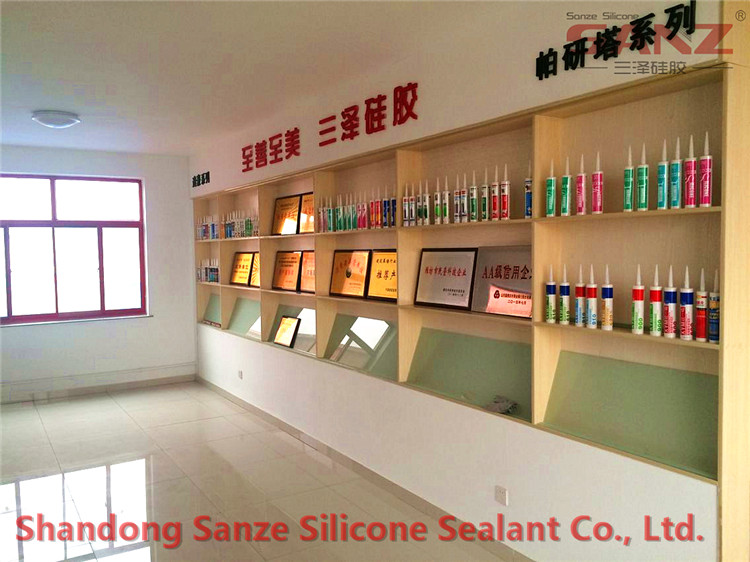 Sanze silicone sealant sample room and meeting room