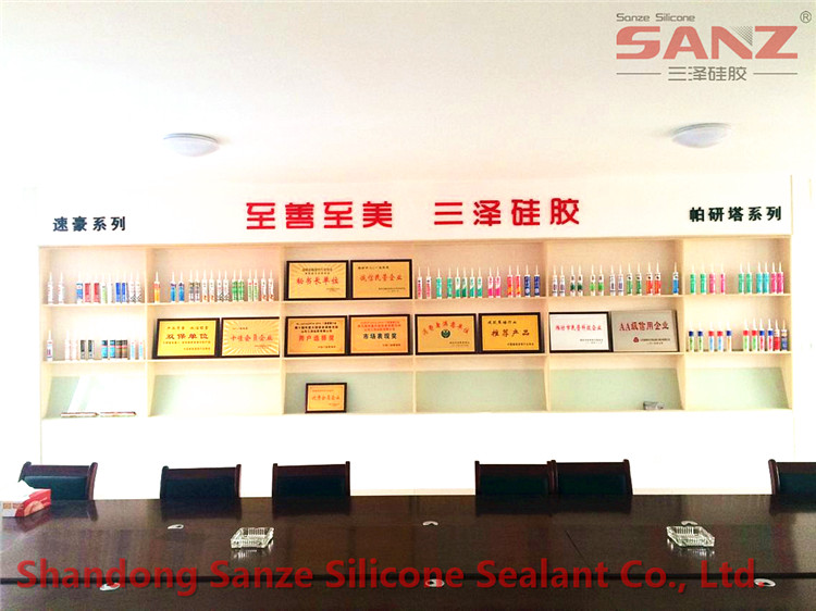 Sanze silicone sealant sample room